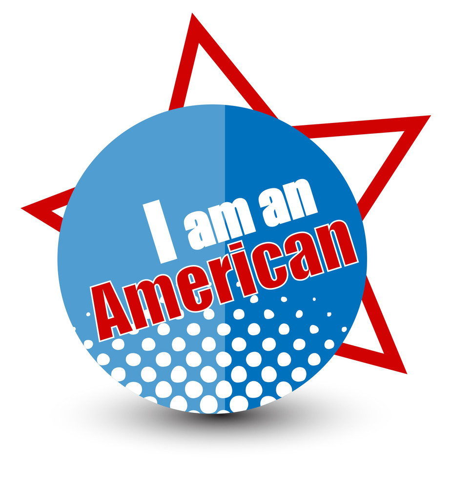 I Am American  Constitution Day Vector Illustration