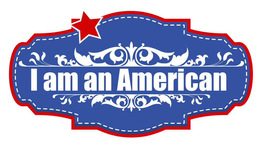 I Am An American Constitution Day Vector Illustration