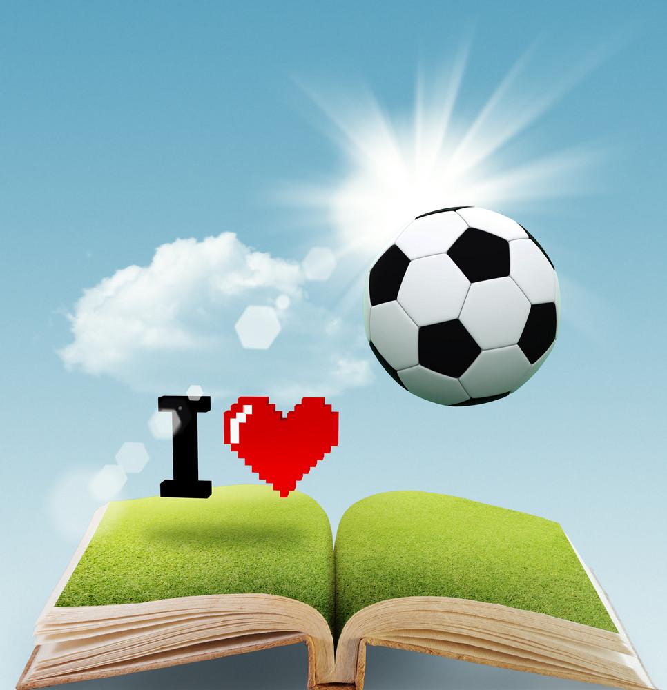 I Love Soccer As Concept