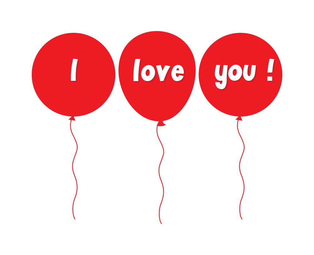 I Love You Banner Balloons