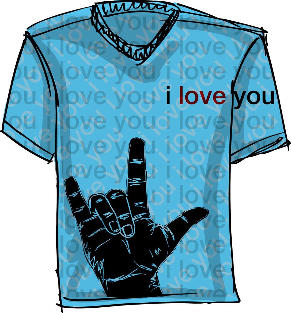I Love You Tee. Vector Illustration