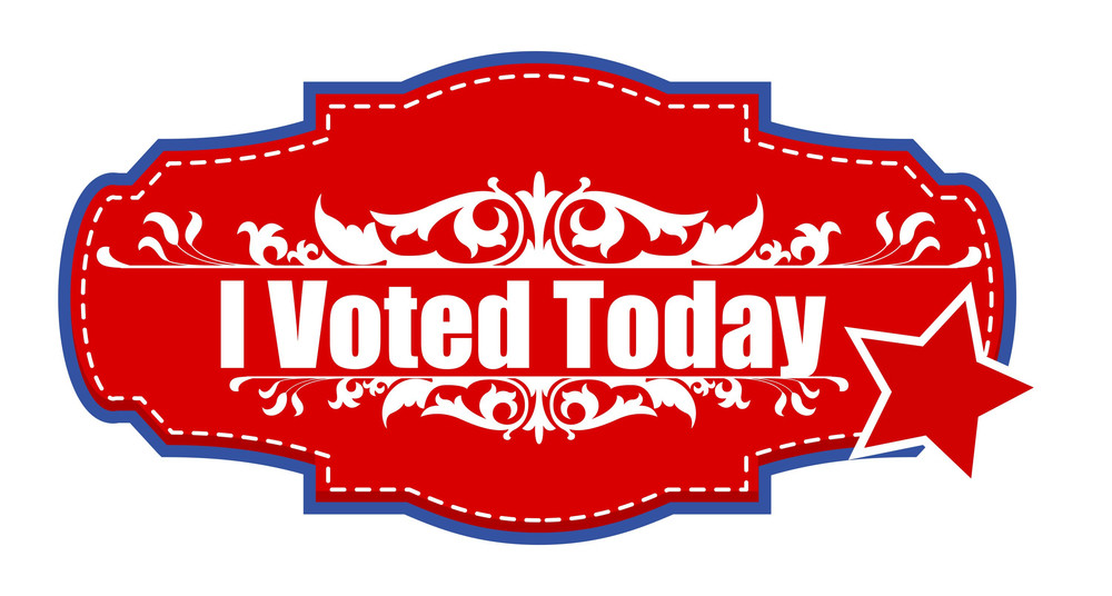 I Voted Today  Election Day Vector Illustration