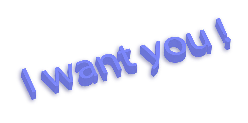 I Want You 3d Text
