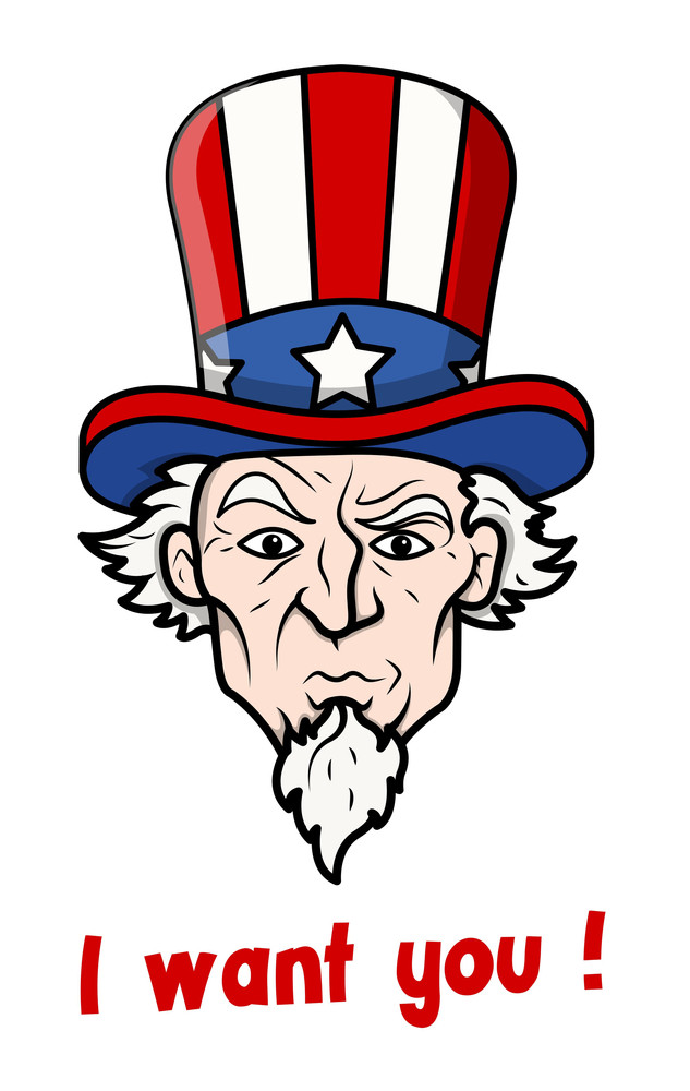 I Want You  4th Of July Vector Illustration