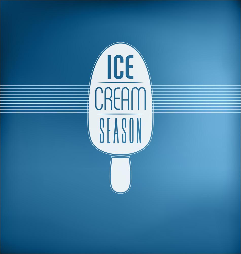 Ice Cream Season - Typographic Design Concept