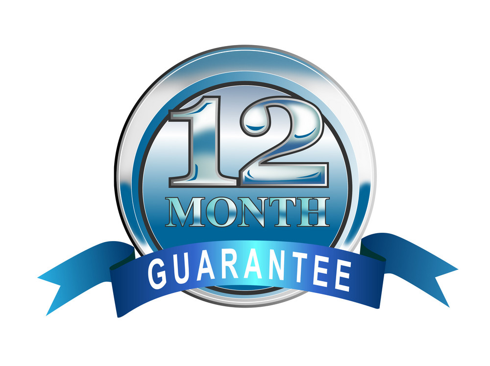 Icon 12 Month Guarantee Blue
