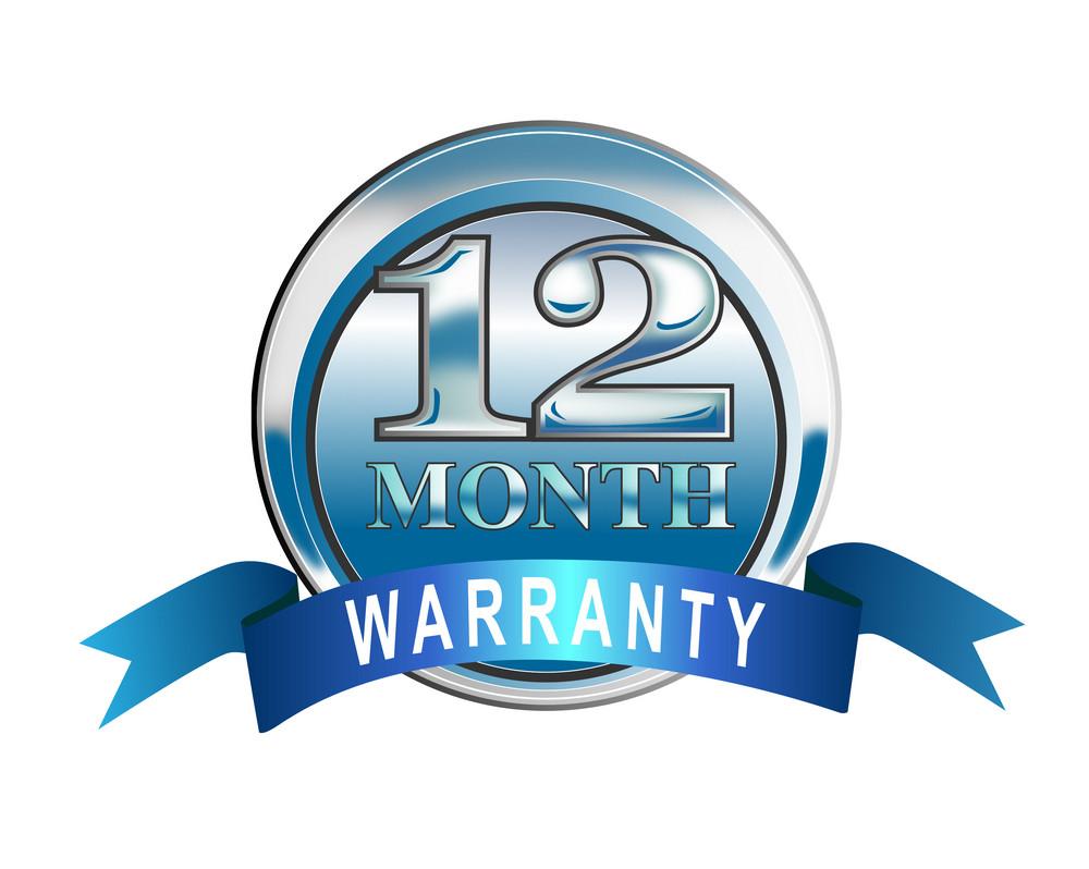 Icon 12 Month Warranty Blue