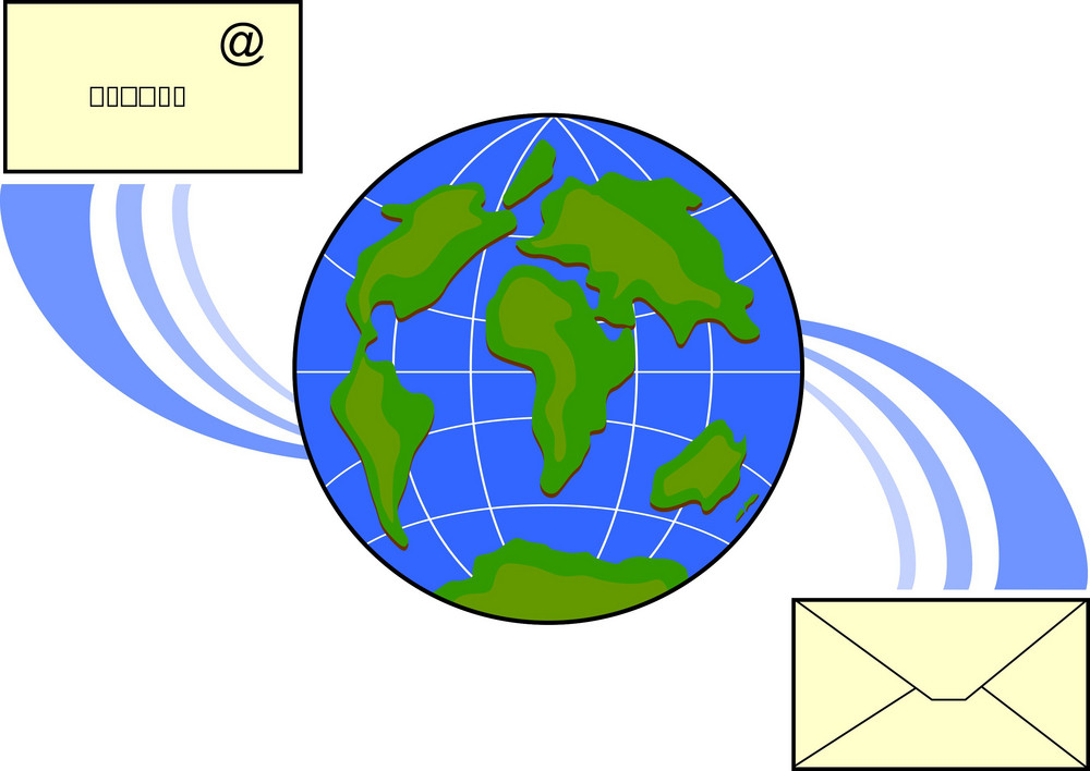 Icon Email Globe