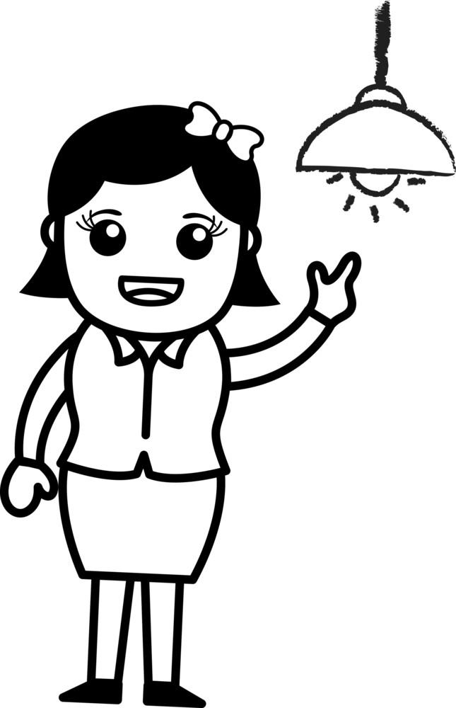 Idea - Office Character - Vector Illustration