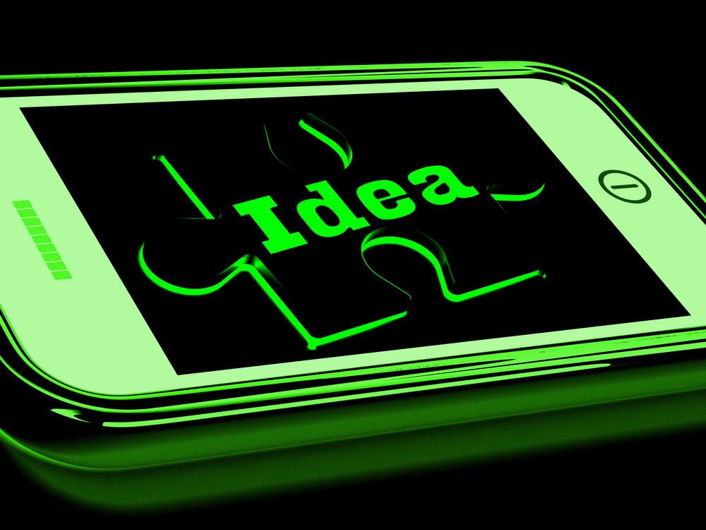 Idea On Smartphone Shows Creative Concepts