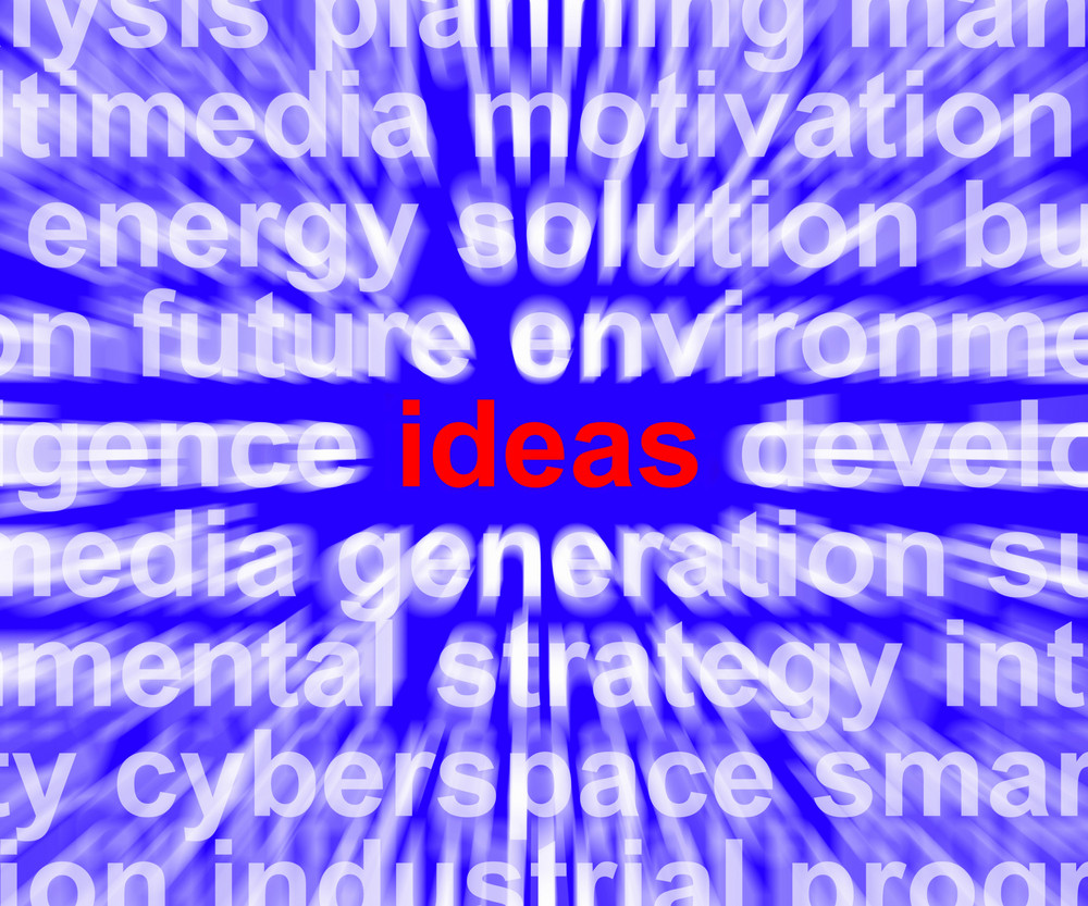 Ideas Word Showing Improvement Concepts Or Creativity