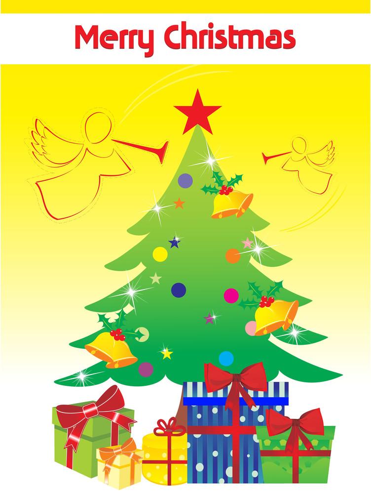 Illustartion For Merry Christmas Celebration
