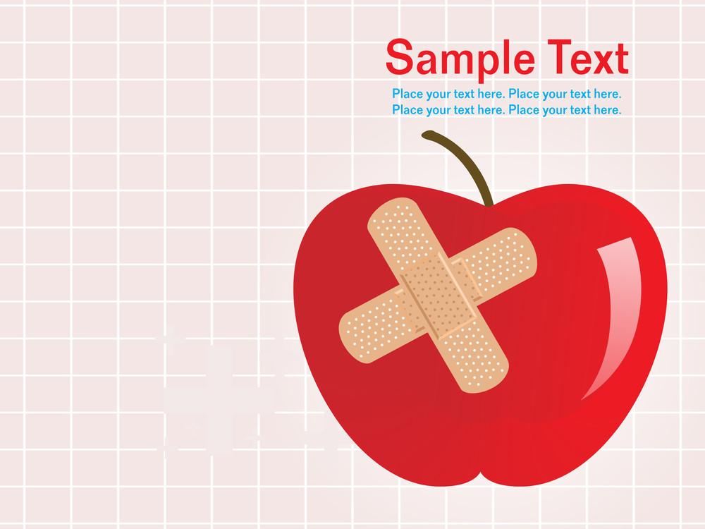 Illustration Apple With Bandage