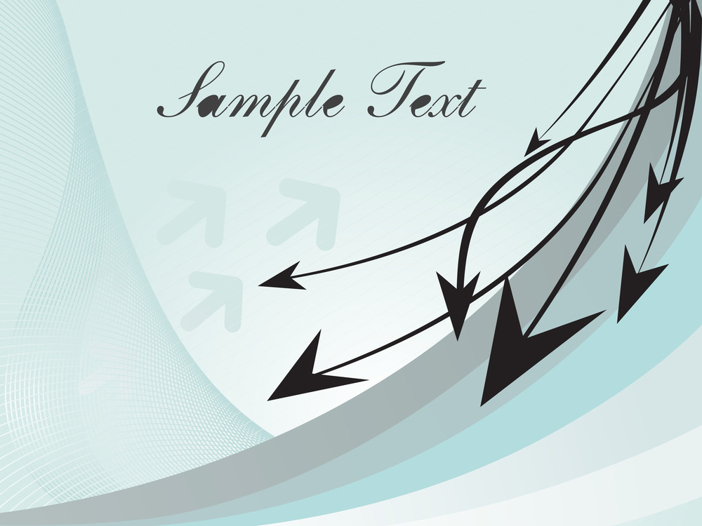 Illustration Arrows And Wave With Sample Text