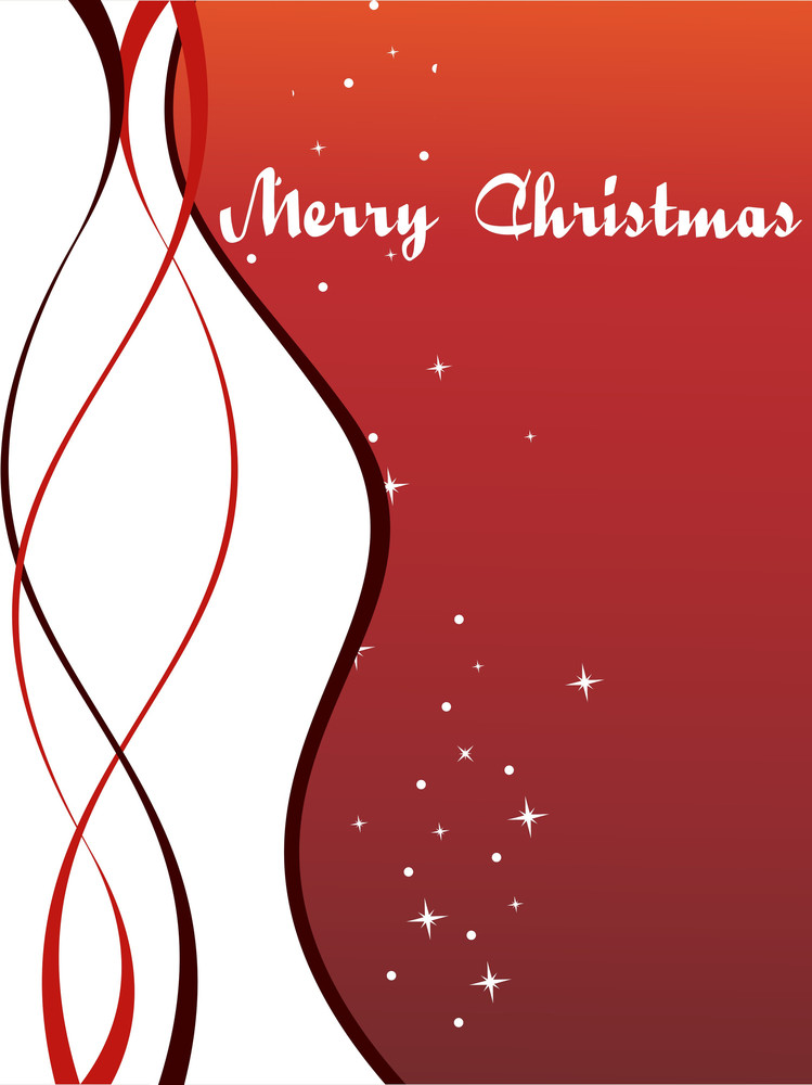 Illustration  Background With Christmas Card
