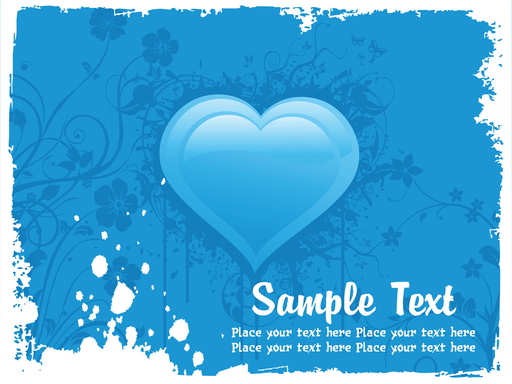 Illustration Blue Valentine Background