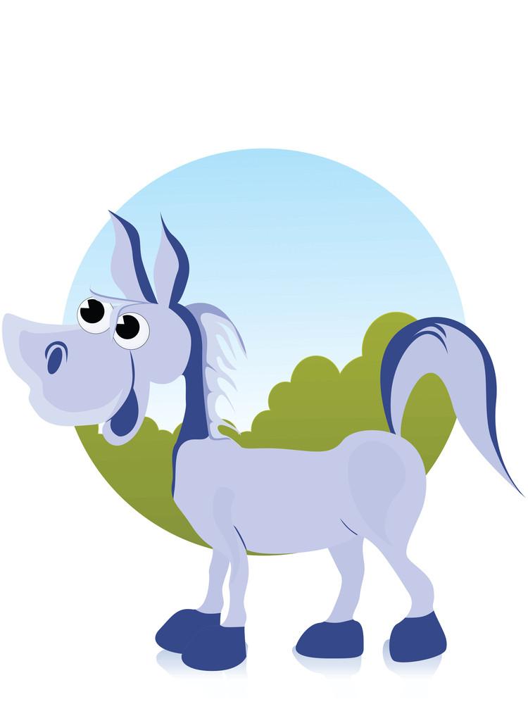 Illustration Comic Donkey