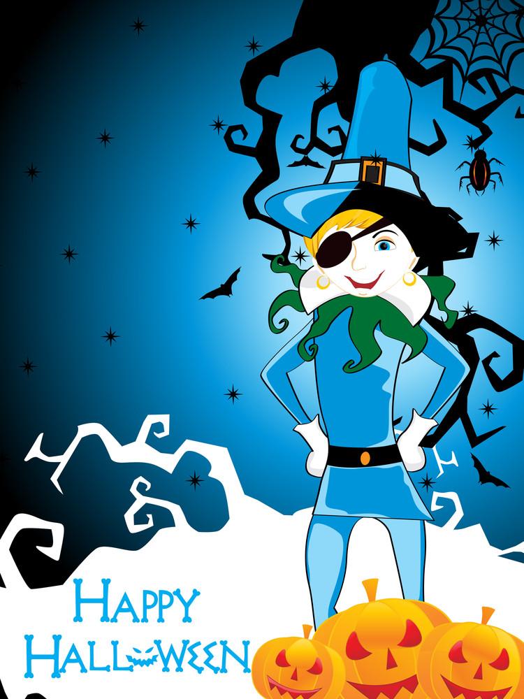 Illustration For Happy Halloween Celebration
