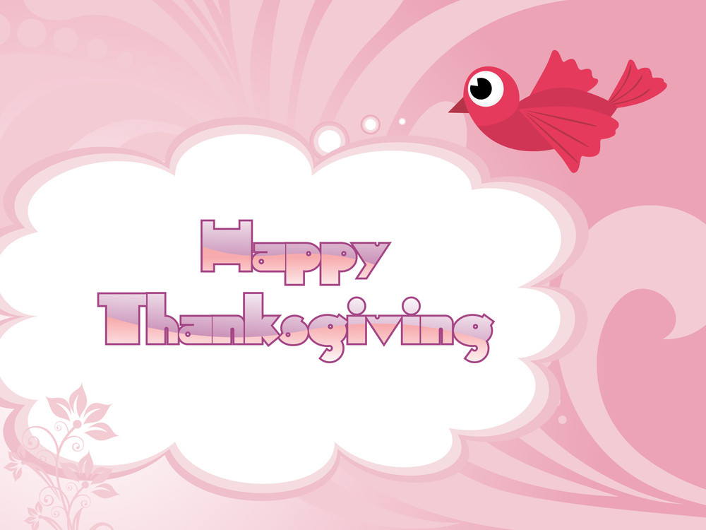Illustration For Happy Thankgiving Day