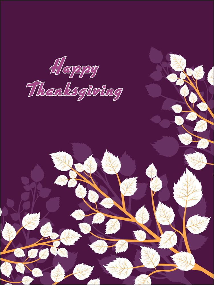 Illustration For Happy Thanksgiving Day