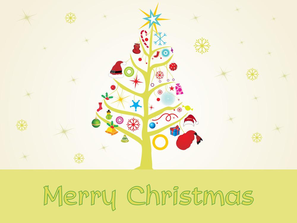 Illustration For Merry Xmas Celebration