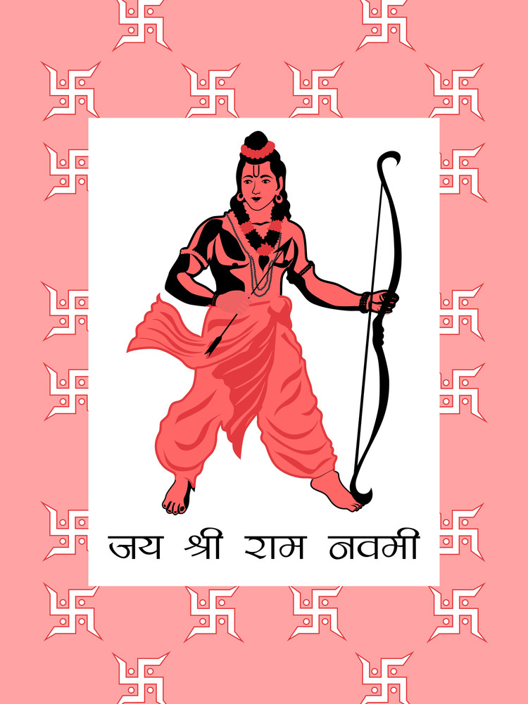 Illustration For Ramnavami Celebration