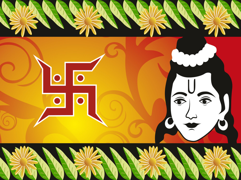 Illustration For Ramnavami