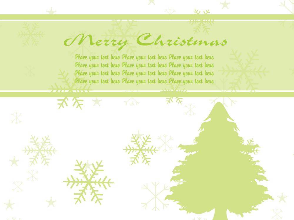 Illustration Green Pine Tree Vector Background