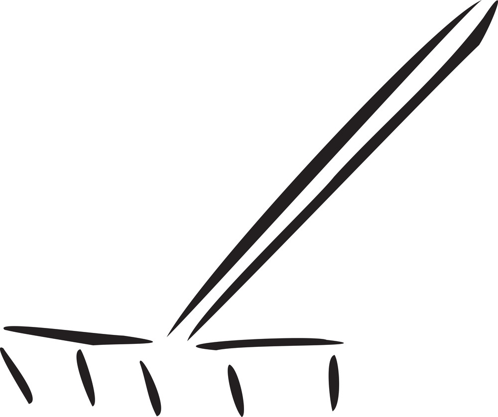 Illustration Of A Agricultural Rake.