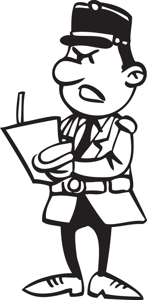 Illustration Of A Angry Man With A Paper.