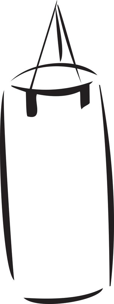Illustration Of A Boxing Bag.