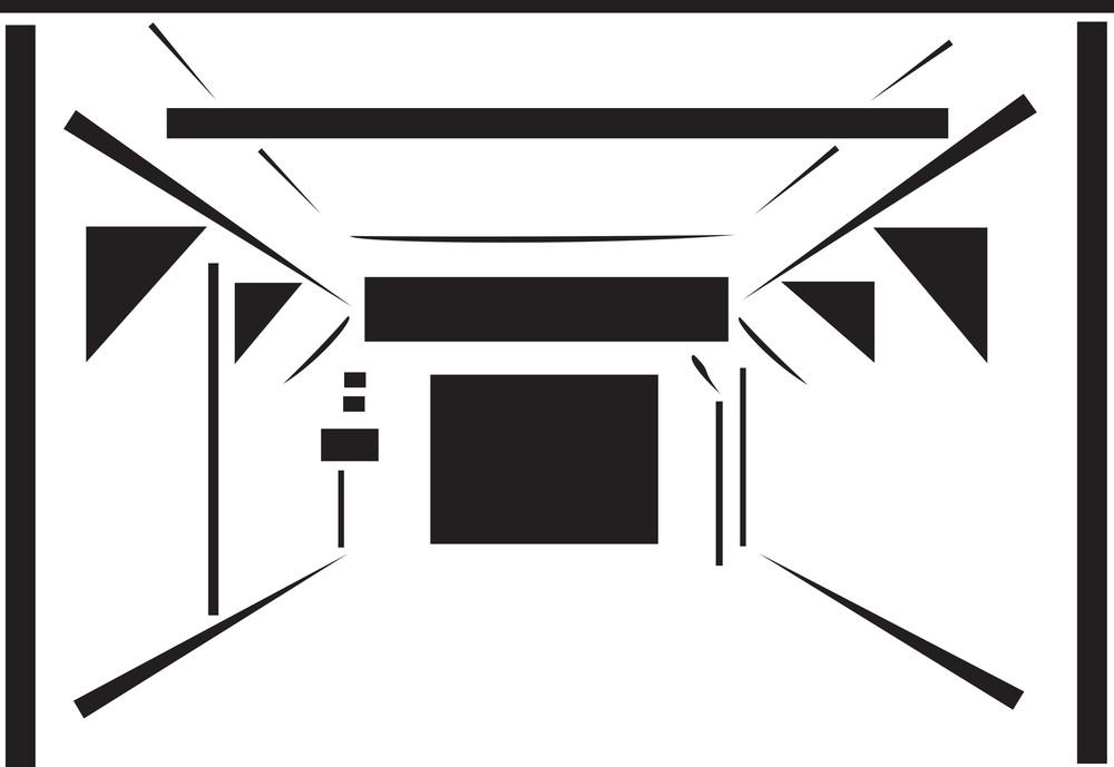 Illustration Of A Car Wash Tunnel.