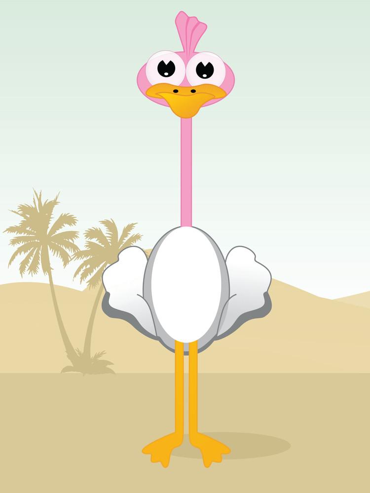 Illustration Of A Cartoon Cute Duck
