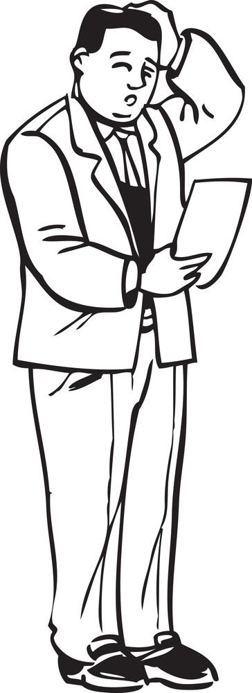 Illustration Of A Cofusing Man.