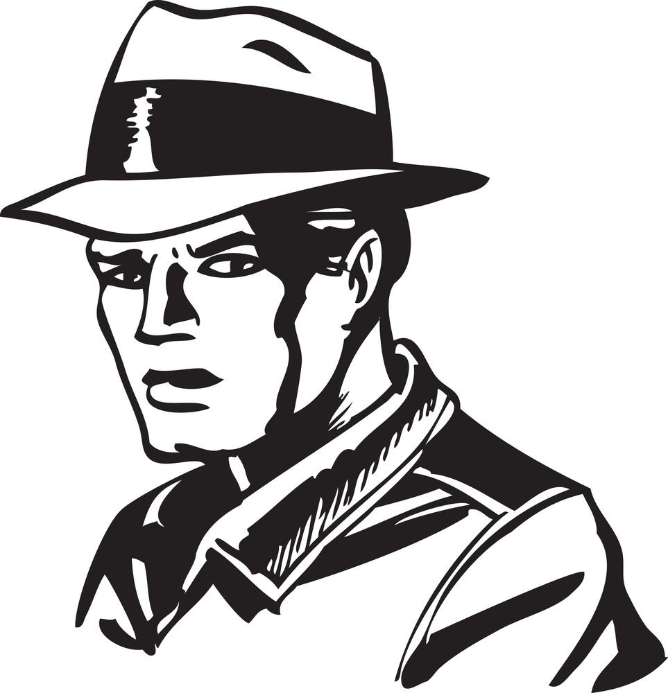 Illustration Of A Cowboy Man.