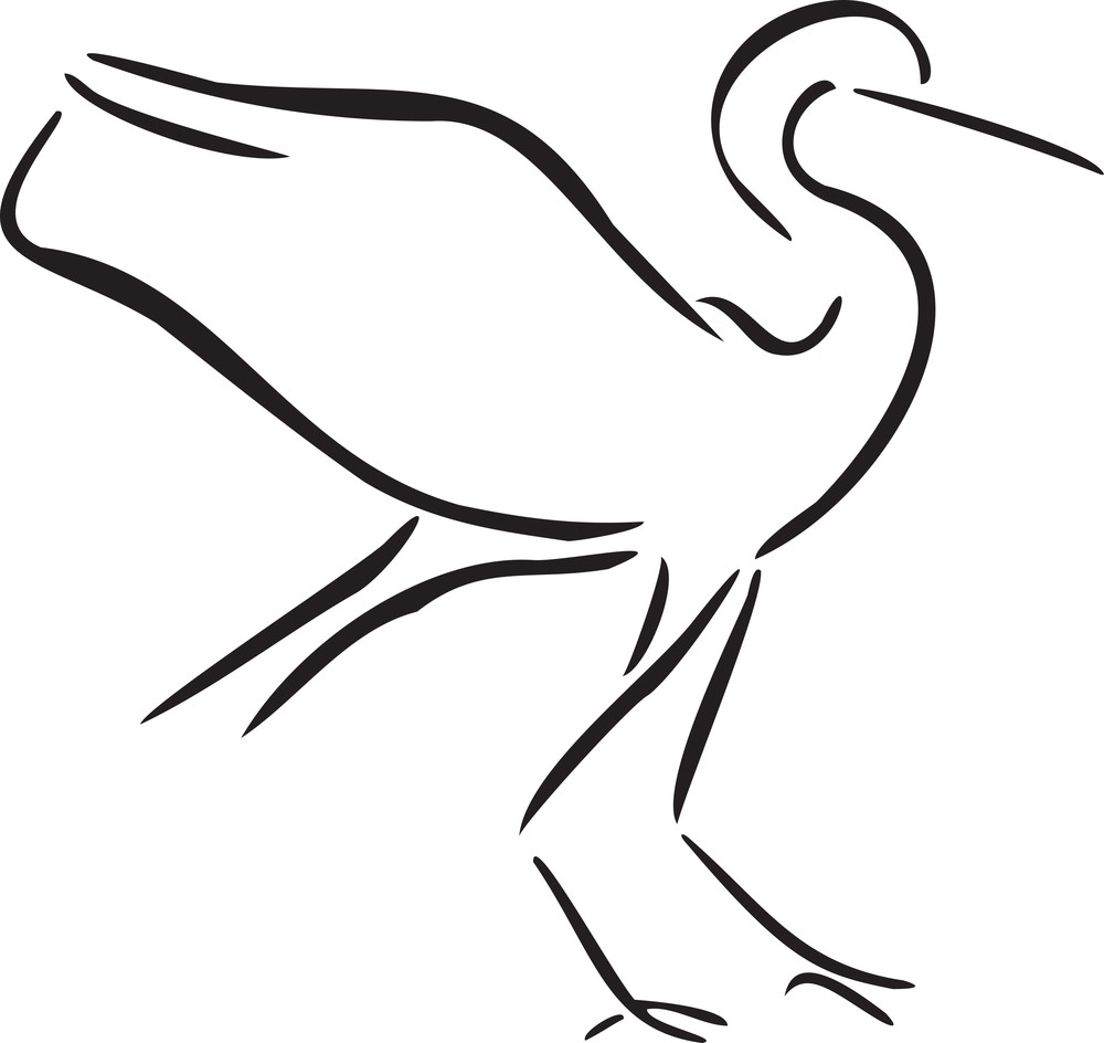Illustration Of A Crane.