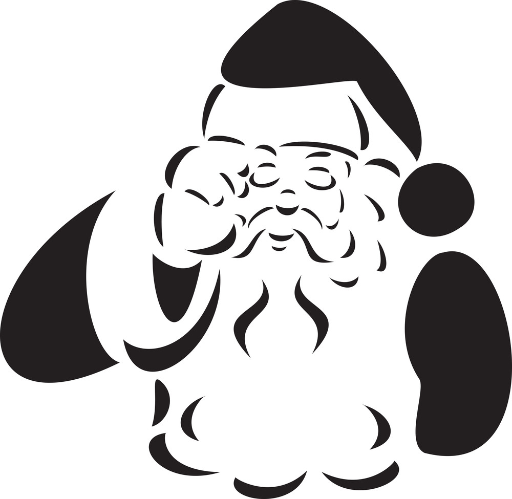 Illustration Of A Crying Santa Claus.