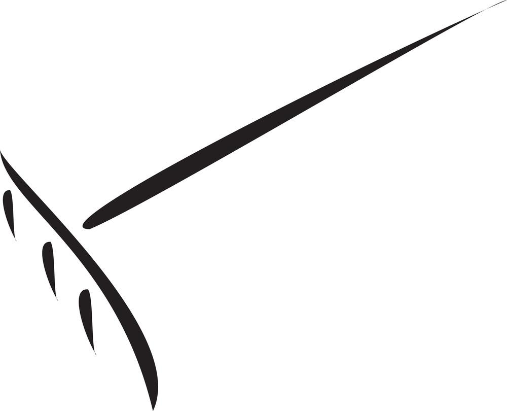 Illustration Of A Digging Fork.