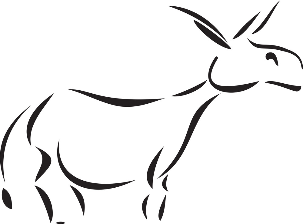 Illustration Of A Donkey.
