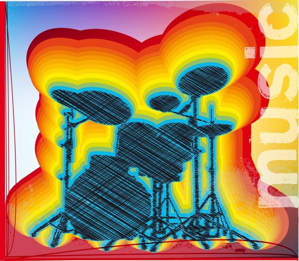 Illustration Of A Drum Set