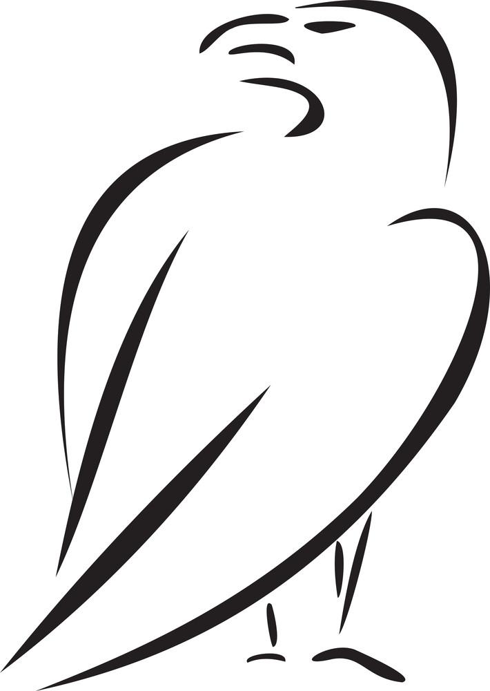 Illustration Of A Eagle.