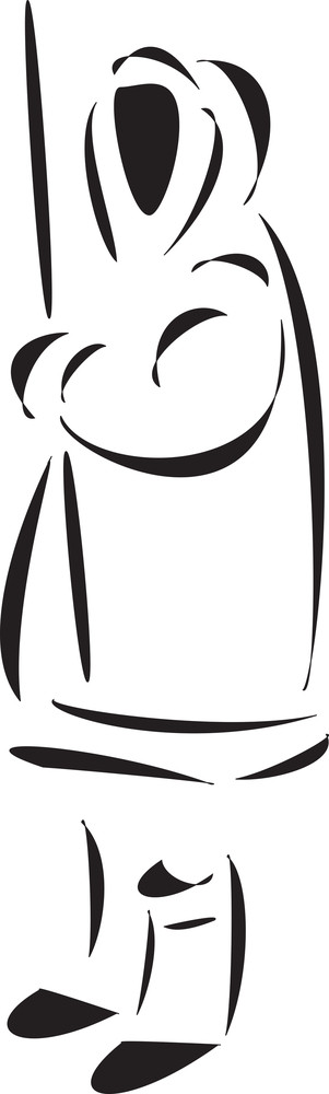Illustration Of A Eskimo.