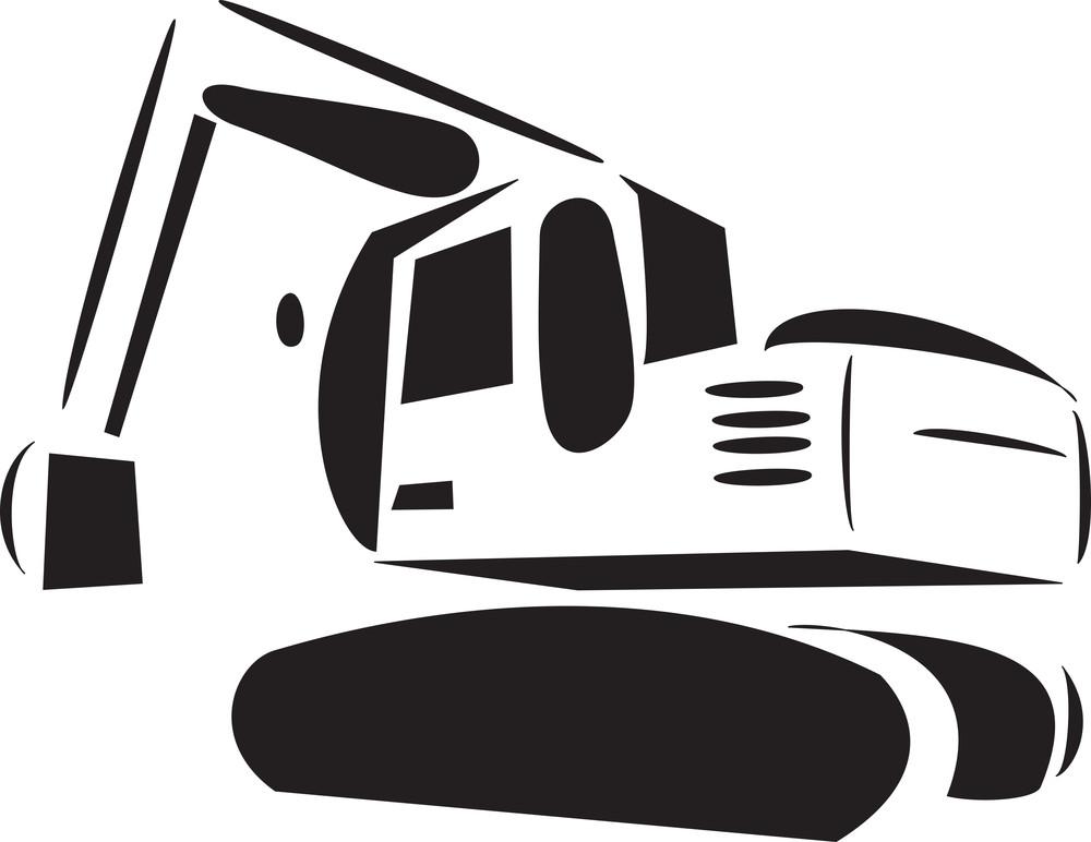 Illustration Of A Excavator.