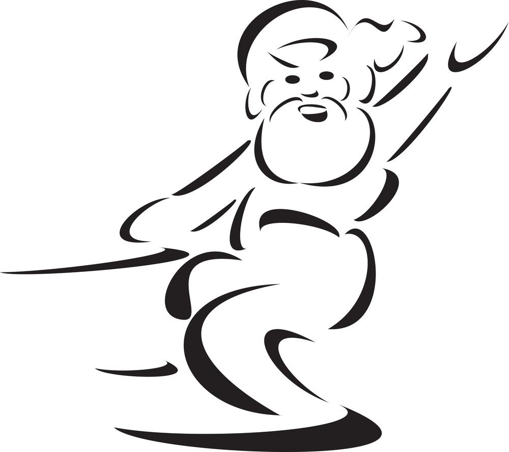 Illustration Of A Fairytale Santa Clause.