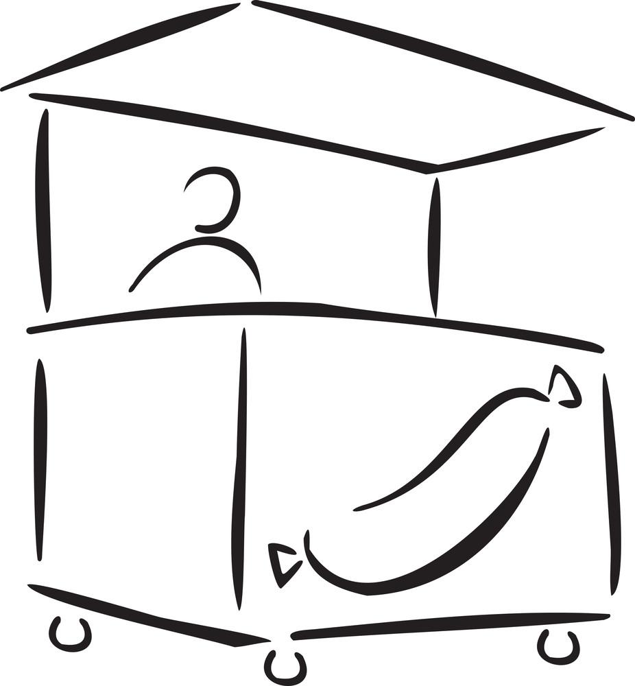 Illustration Of A Food Cart.
