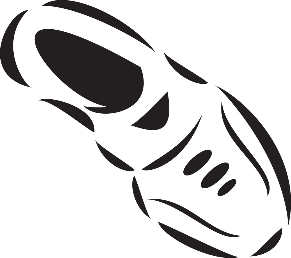 Illustration Of A Football Player Shoe.