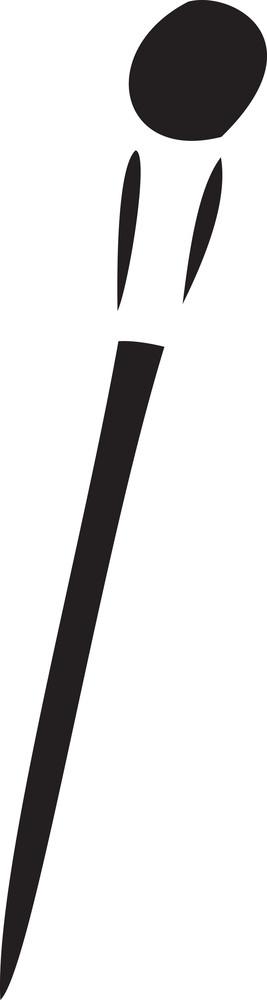 Illustration Of A Foundation Brush.