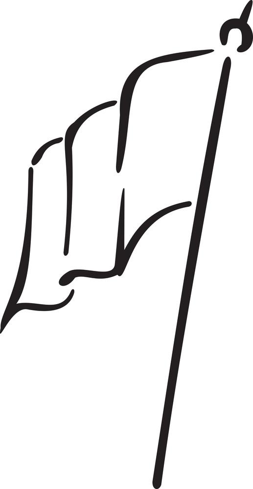 Illustration Of A Frace Flag.