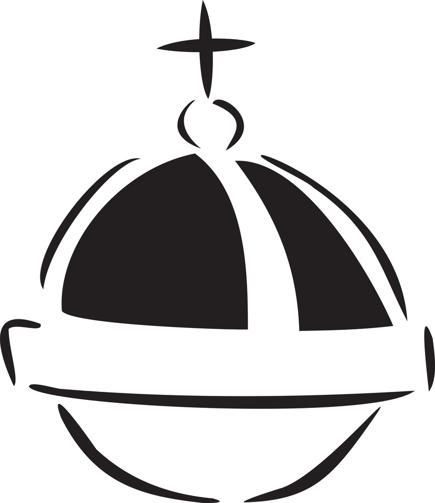 Illustration Of A Globus Cruciger.