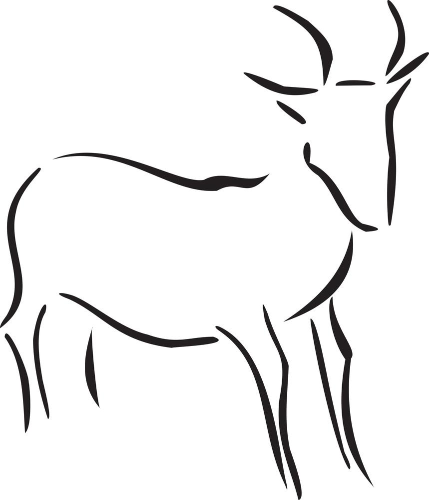 Illustration Of A Goat.